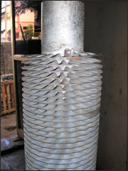 Spiral wound ( crimped type) finned tubes
